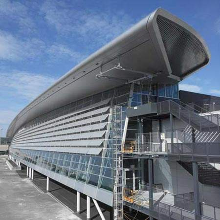 The airside centre forms the centrepiece of the fifth expansion project.