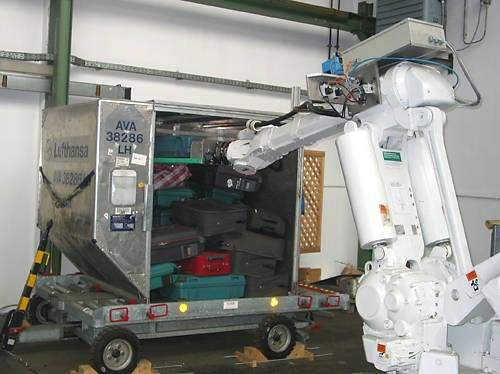 A robotic baggage loading system was installed at Zurich in 2004 for an extensive 12-month field trial.
