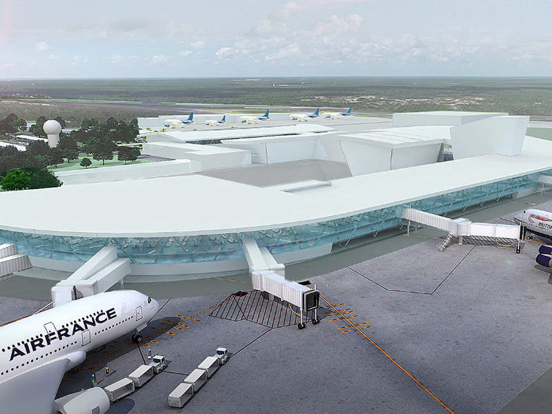 Artist's rendering of Terminal 4 at Cancun International Airport. Credit: Cancun Airport.