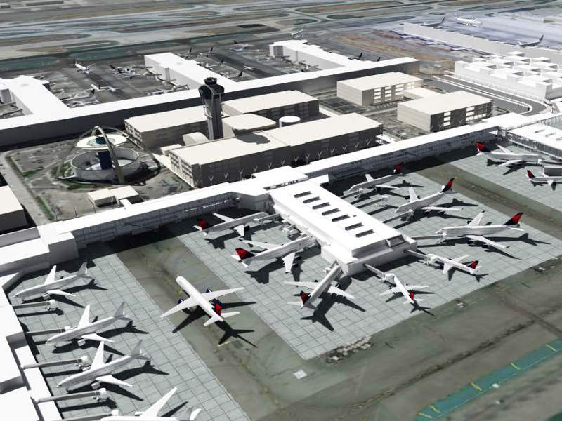 Aerial view of Los Angeles International Airport. Credit: DELTA AIR LINES, INC.