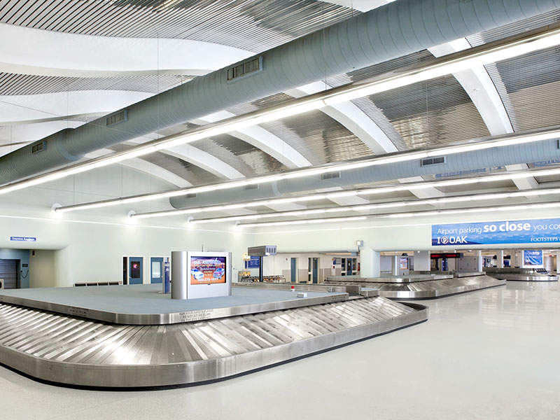 The expanded International Arrivals Building (IAB) in Terminal 1 was opened in December 2017. Credit: Oakland International Airport.