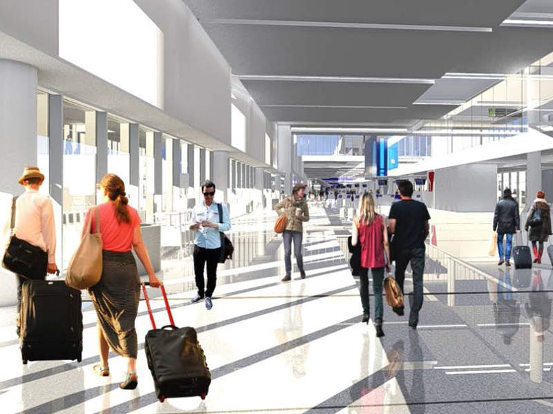 Terminal 2 modernisation at Los Angeles airport began in September 2014. Credit: DELTA AIR LINES, INC.