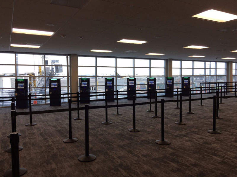 The new baggage carousel at the upgraded International Arrivals Building. Credit: Oakland International Airport.
