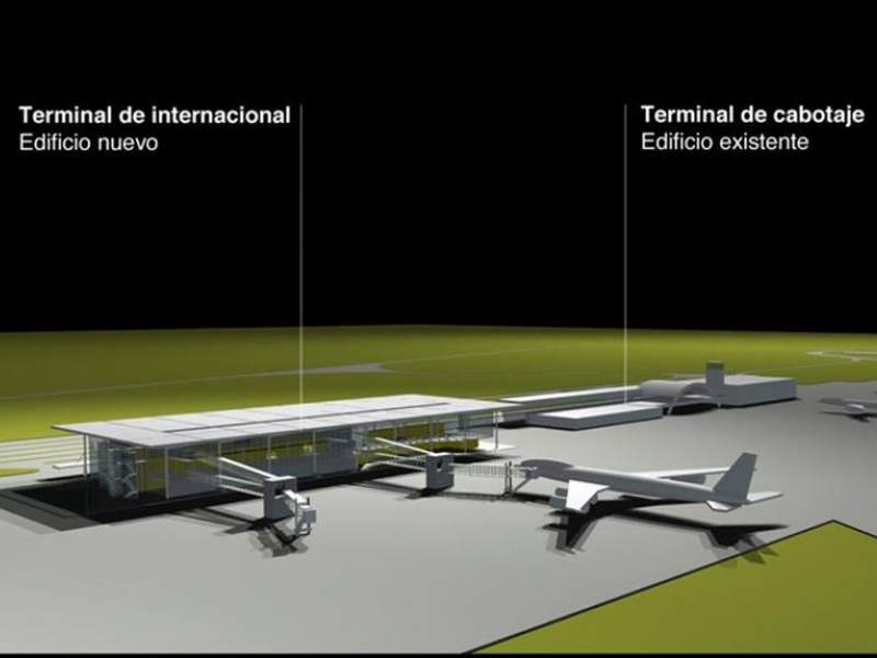 The new international terminal apron can accommodate up to eight aircraft. Credit: Municipality of Rosario.