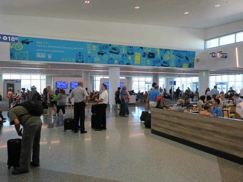 Gate 18A at the Terminal 1 was reopened in June 2017. Credit: Los Angeles World Airports.