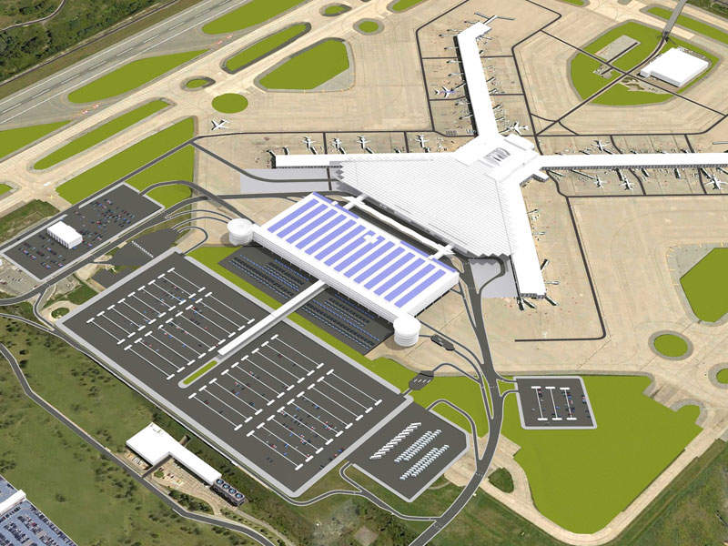The new terminal will be a two-level facility covering a total area of approximately 632,000ft². Credit: Allegheny County Airport Authority.