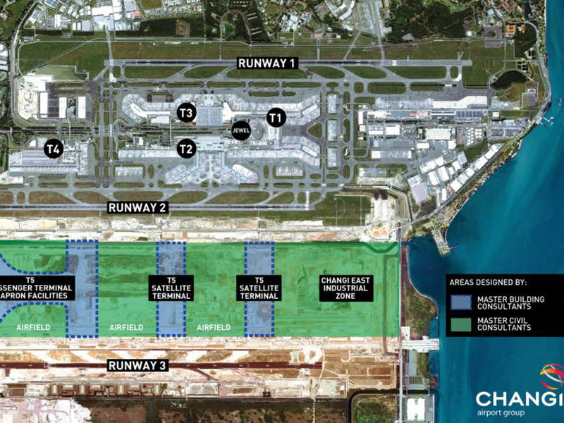 Terminal 5 of Changi International Airport is expected to be completed in 2030s. Credit: Surbana Jurong Private Limited.