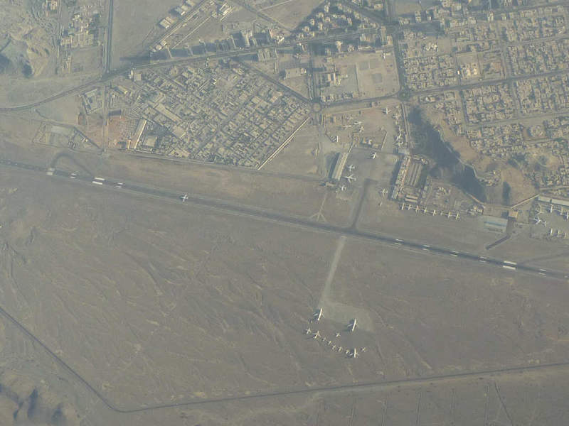 Aerial view of Fujairah International Airport. Credit: PalawanOz.