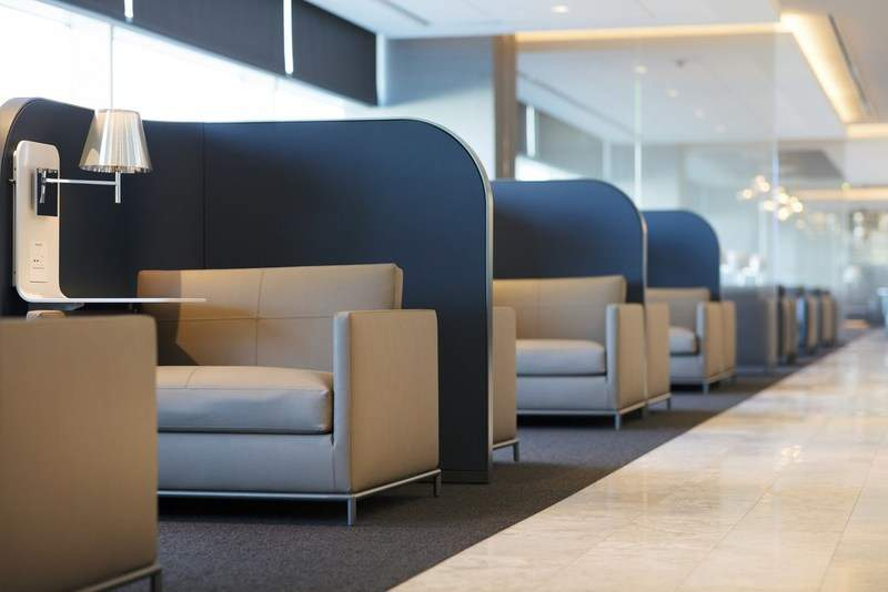 United Polaris Lounge At SFO. Credit: PRNewsfoto / United Airlines Inc.