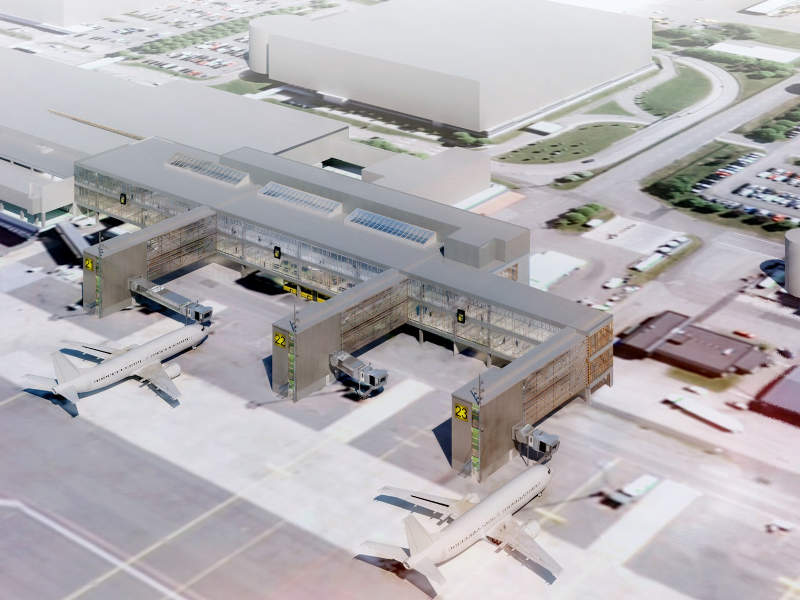 Swedavia started construction of the north terminal at Sweden's Gothenburg Landvetter airport in May 2018. Credit: NCC.