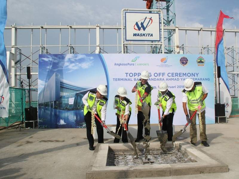 The ground-breaking ceremony for the new terminal was held in June 2014. Credit: Central Java Com- mation Service.
