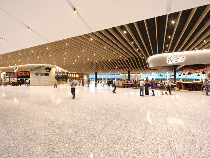 The expanded terminal will house new VIP facilities for international arrivals and departures. Credit: Adelaide Airport.