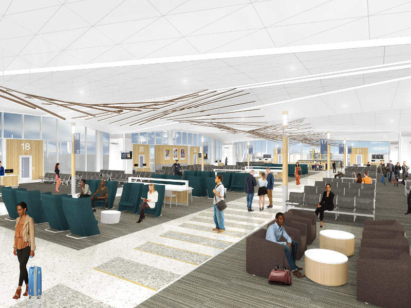 Memphis International Airport modernisation project will consolidate airline and retail operations in concourse B. Credit: Memphis International Airport.