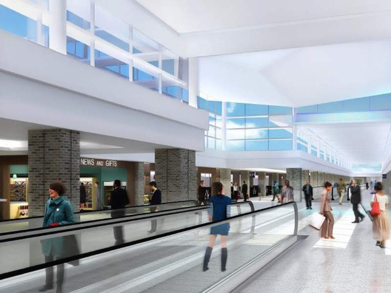 The modernisation project will also add moving walkways in the airport. Credit: Memphis International Airport.