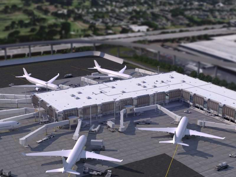 The Mauka Concourse will be able to accommodate six wide-body aircraft. Credit: State of Hawaii.