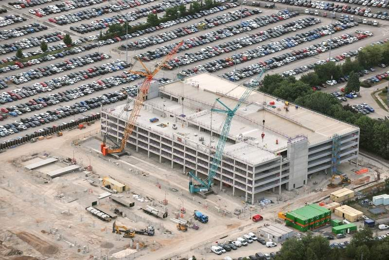 Bam wins contracts for two manchester airports group car park schemes aerial view june 2018 of the manchester airport car park scheme credit bam m4hsunfo