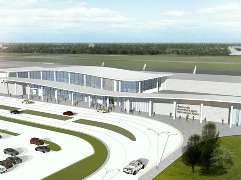 A rendering of the new terminal at Brownsville South Padre Island international airport. Credit: Brownsville South Padre Island International Airport.