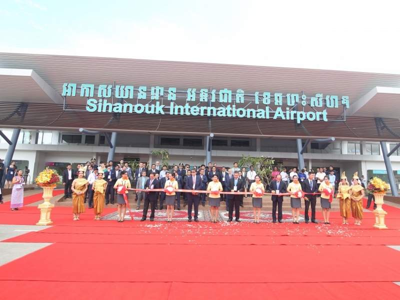 The refurbished passenger terminal at Sihanouk International Airport has a floor area of 4,800m². Credit: VINCI Airports.