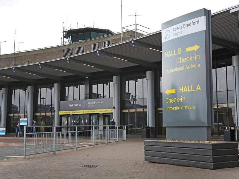 The passenger terminal at the Leeds Bradford international airport has two check-in halls, A and B. Credit: Leeds Bradford Airport.