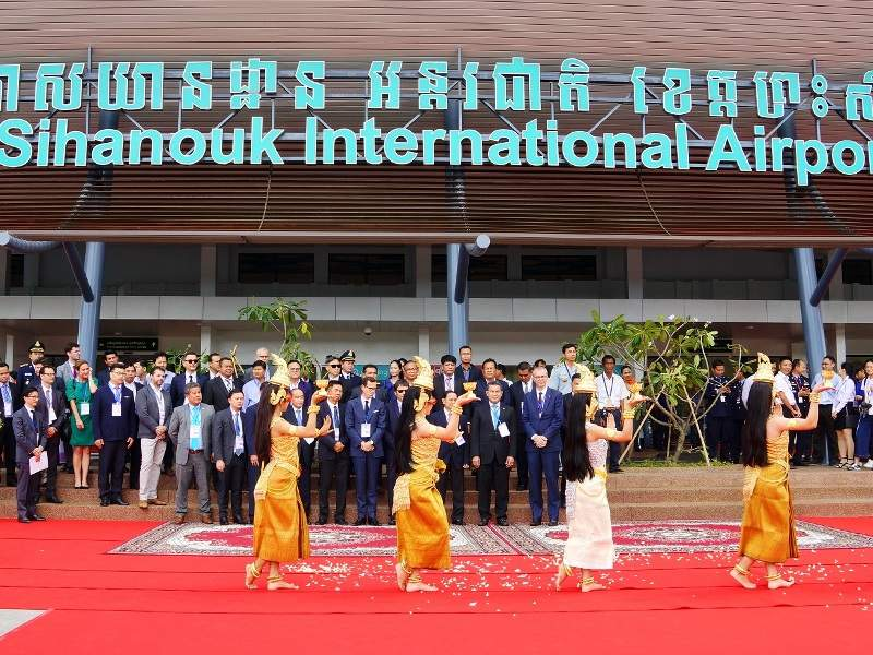The refurbished passenger terminal at Sihanouk International Airport was opened in June 2018. Credit: Cambodia Airports.