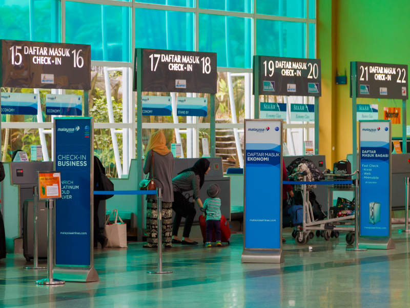 Langkawi International Airport has a total of 30 check-in counters. Credit: CEphoto / Uwe Aranas.