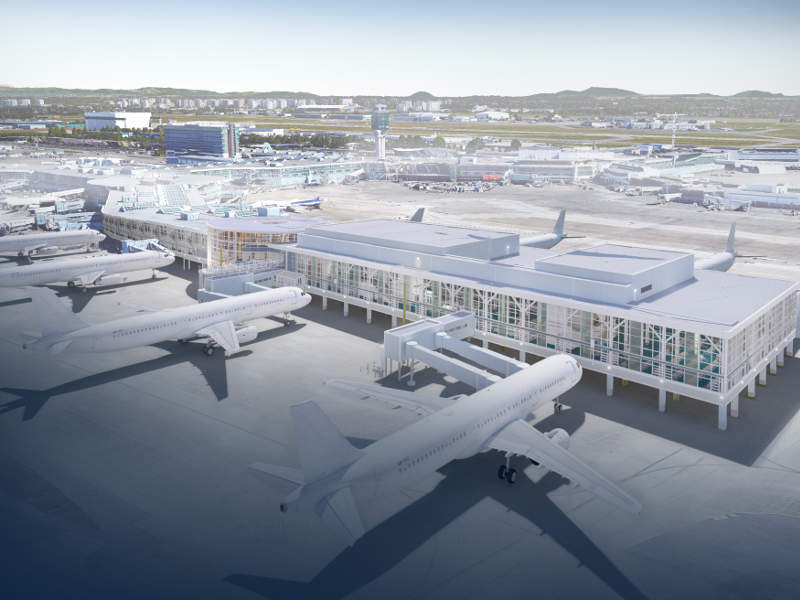 The multi-year expansion projects of Vancouver International Airport will involve an investment of $9.1bn. Credit: Vancouver Airport Authority.