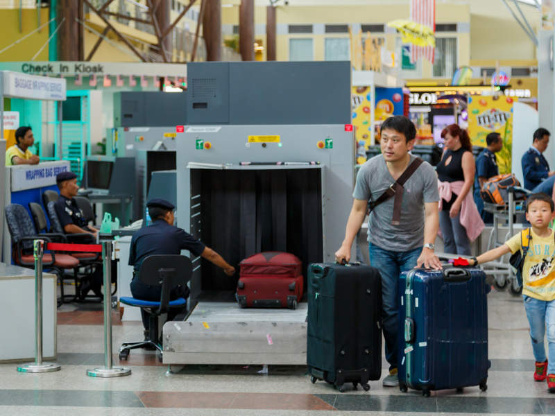 An advanced in-line hold baggage handling system was installed at the Langkawi airport to perform multi-fold security screening. Credit: CEphoto / Uwe Aranas.