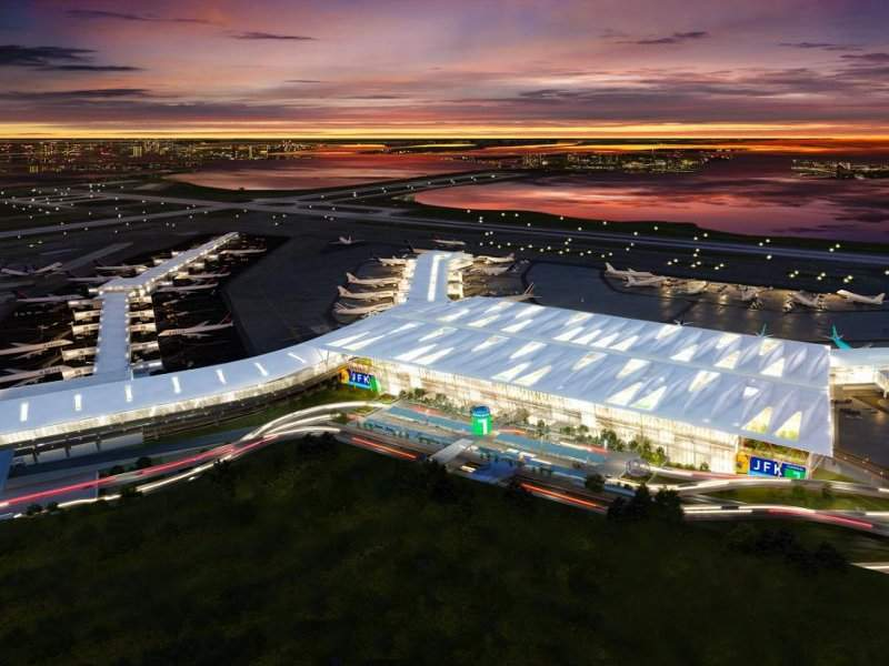 JFK International Airport will be redeveloped to a modern 21st century airport by 2025. Credit: New York State.