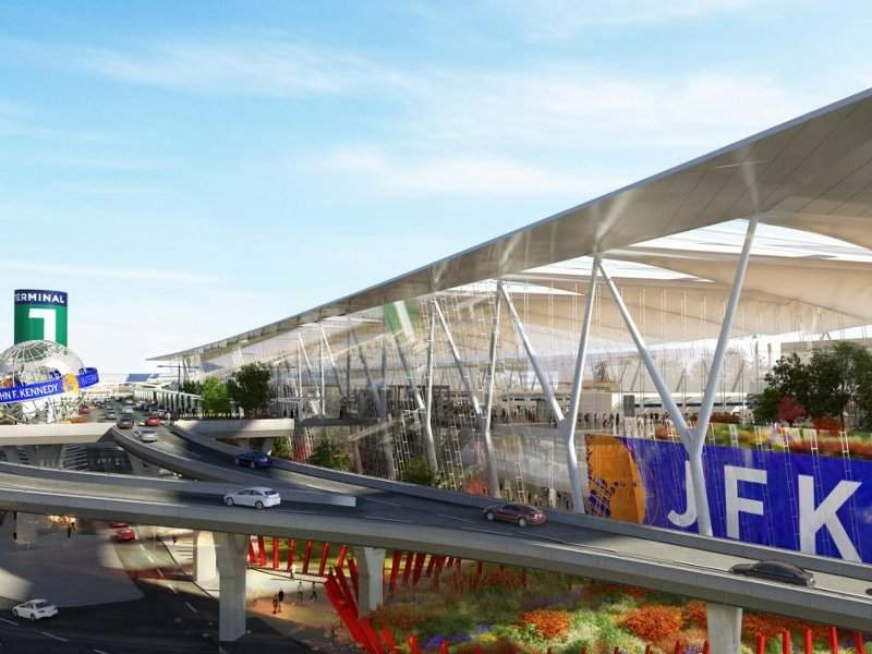 The redevelopment project will also include the improvement of road access to JFK airport. Credit: New York State.