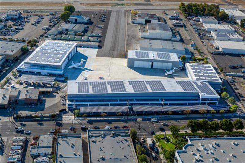 Solar power plant at Van Nuys Airport