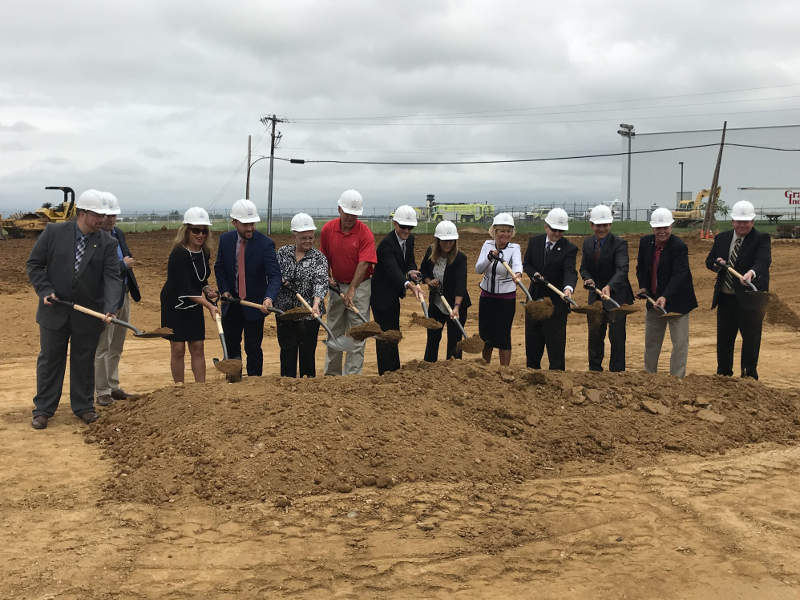 The expansion project at the Lehigh Valley International Airport began with the construction of a new hangar in August 2018. Credit: Lehigh Valley Economic Development Corporation.