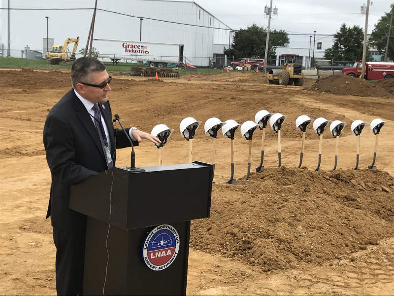 The hangar will have the capacity to accommodate wide-body aircraft with a wingspan more than 100ft. Credit: Lehigh Valley Economic Development Corporation.