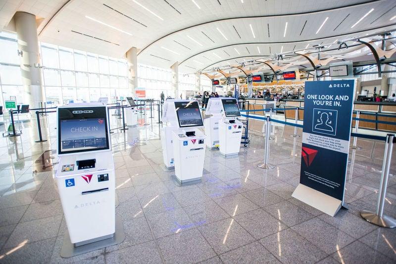 Biometric terminal at Hartsfield-Jackson Atlanta International Airport