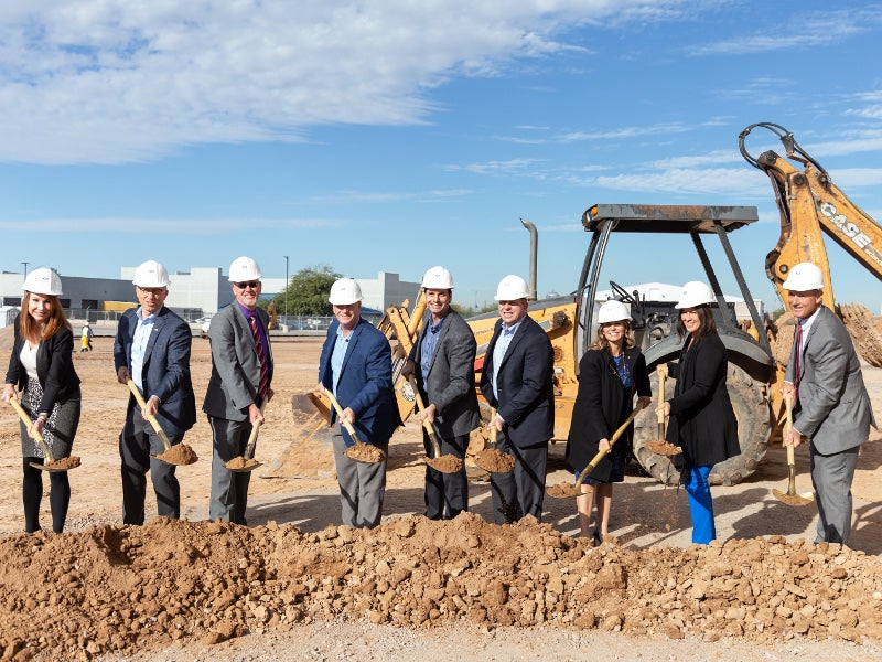 Construction of two hangar facilities at Phoenix-Mesa Gateway Airport started in December 2018. Credit: Able Aerospace Services Inc.