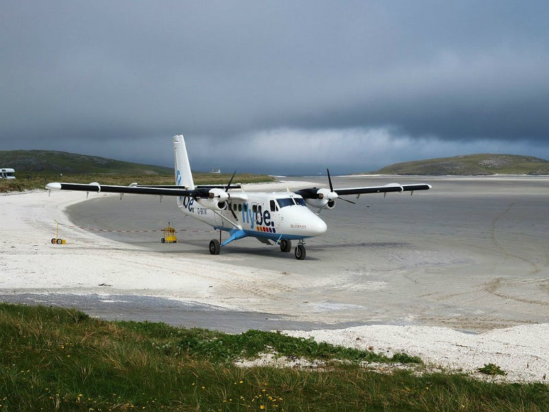 Barra Airport beach runway