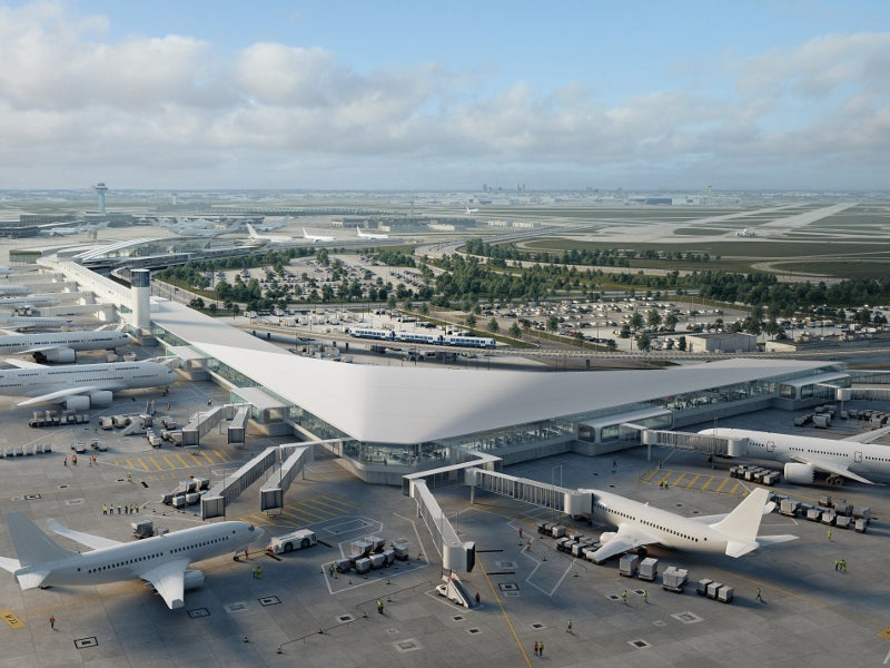 O'Hare International Airport Terminal 5 expansion project is being carried out in two phases. Credit: HOK.