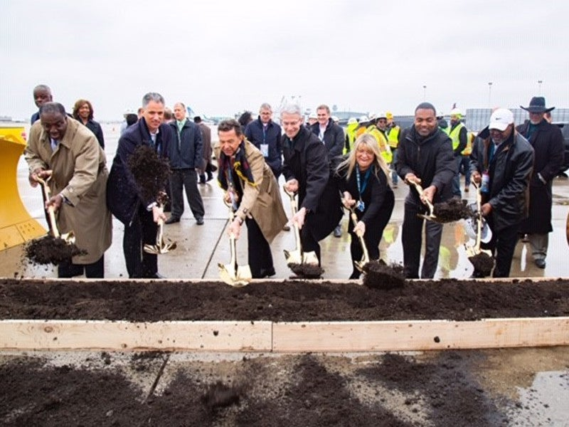 The groundbreaking ceremony for the project was held in March 2019. Credit: HOK.