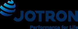 Jotron logo slogan blue