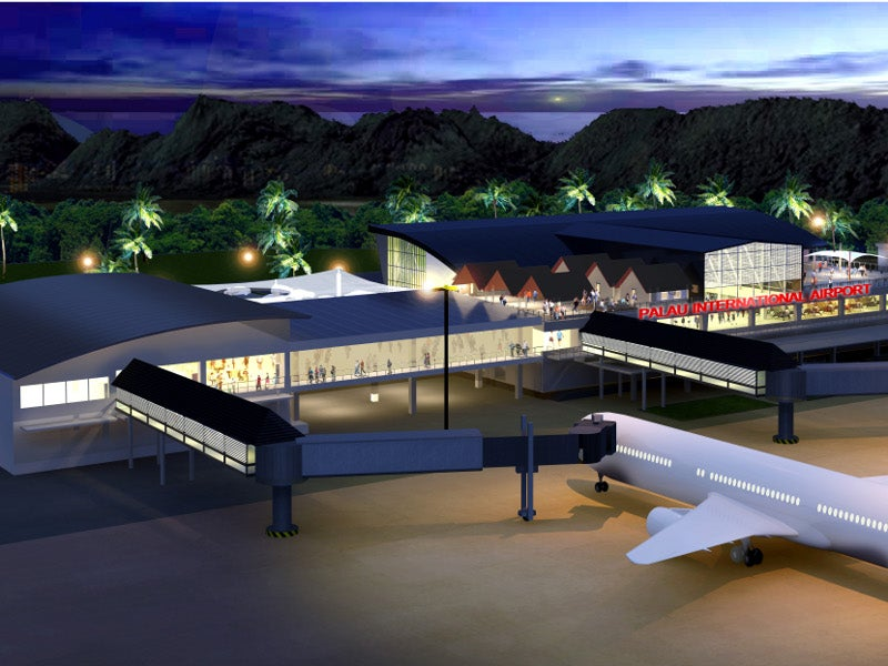A two-storey passenger terminal building will also be constructed as part of the project. Credit: palaugov.pw.