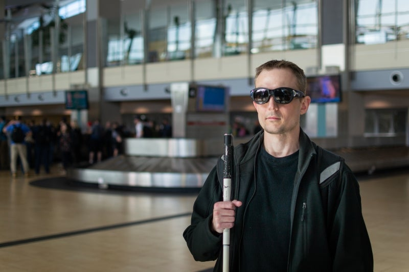 Air travel for blind passengers