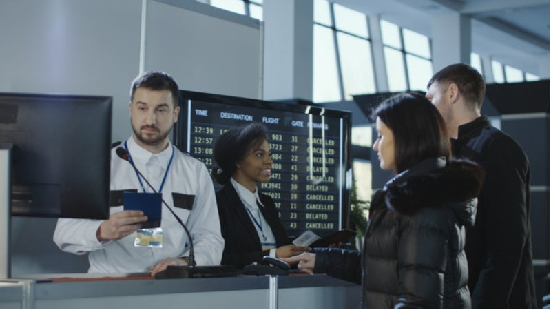 Biometric screening at airports