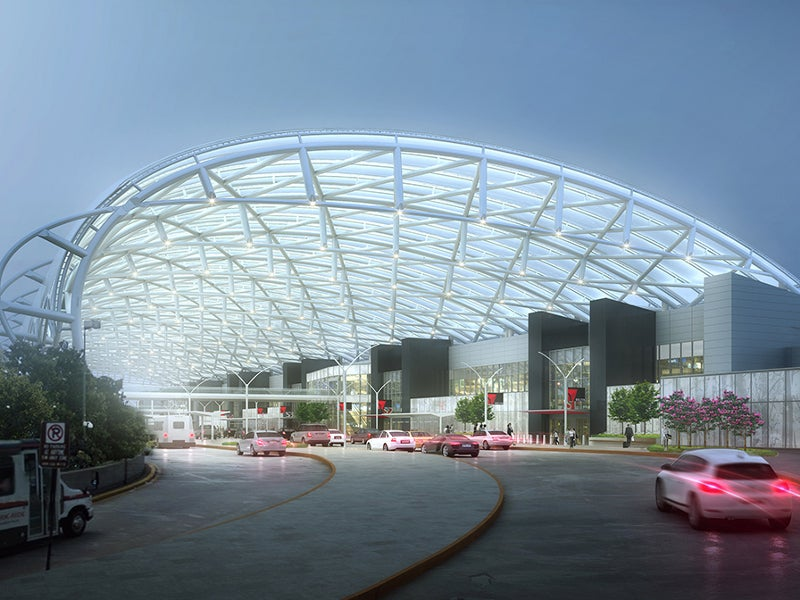 Canopies will be built over the upper roadway kerbside. Credit: ATLNext.