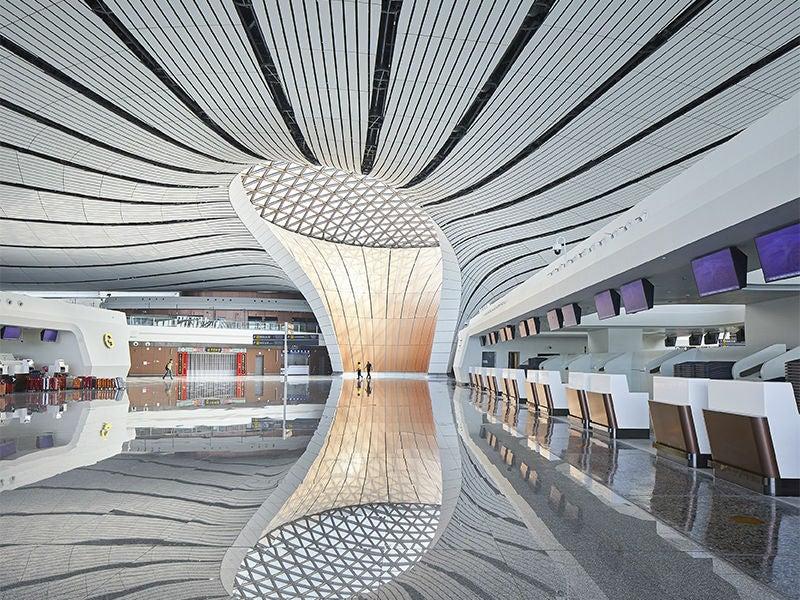 modern airport interior