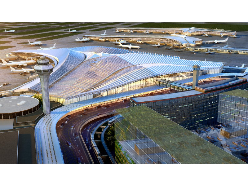 O'Hare global terminal and concourse will combine both international and domestic operations. Credit: Studio ORD.
