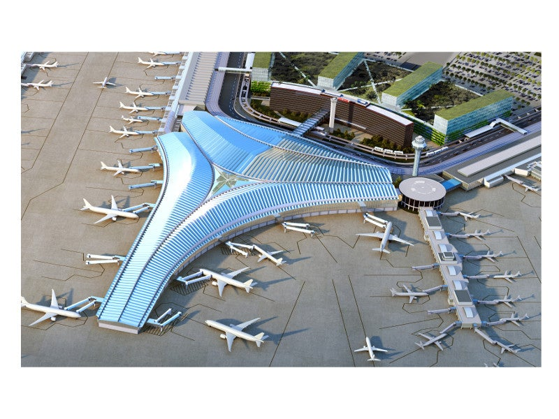 The total estimated cost of the new terminal is $2.2bn. Credit: Studio ORD.