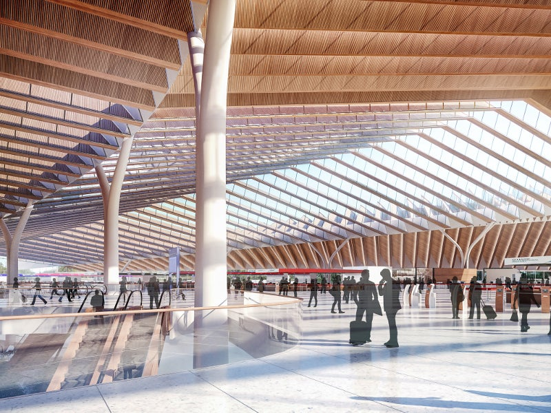 The terminal will feature between 30 and 35 additional gates. Credit: Studio ORD.