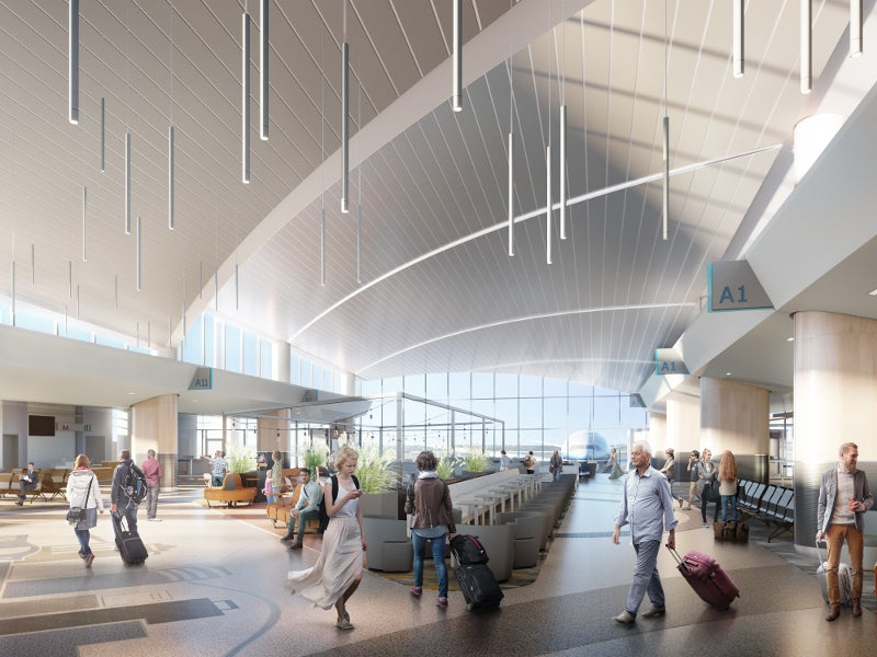 Concourse A expansion will add eight new gates and amenities. Credit: Gerald R Ford International Airport.