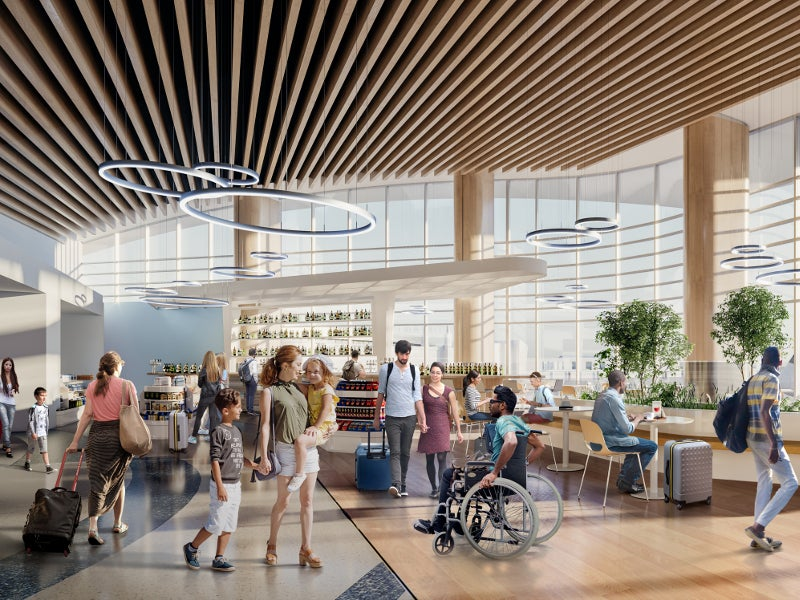The expansion will also add new restaurants and retail stores. Credit: Gerald R Ford International Airport.