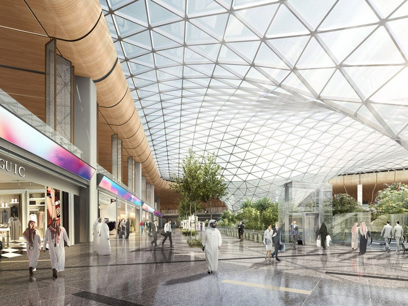 The airport expansion plan has been designed to integrate new features into the existing terminal. Credit. Hamad International Airport (HIA).