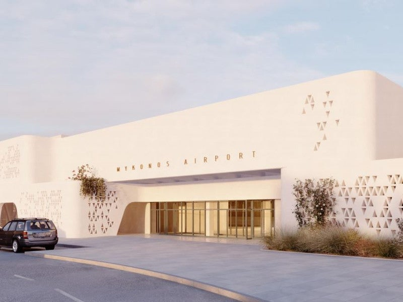 Mykonos International Airport is being redeveloped as one of the most modern airports in Greece. Credit: Fraport Greece.